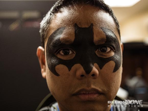 Batman face paint mask